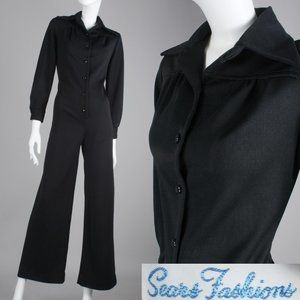 M Vintage 70s Bell Bottom Jumpsuit Disco Outfit
